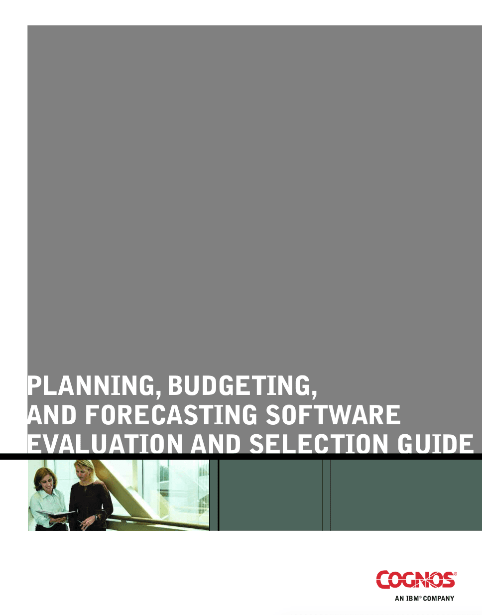 planning, budgeting and forecasting software evaluation and selection guide